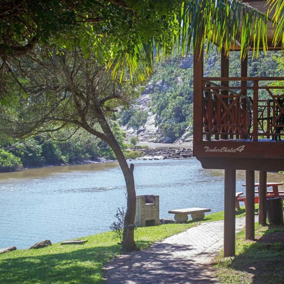 Areena Riverside Resort Accommodation Timber Chalets 1