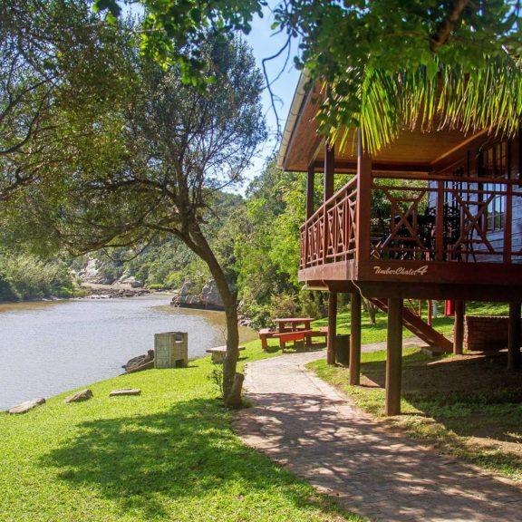 Areena Riverside Resort Accommodation Timber Chalets 3