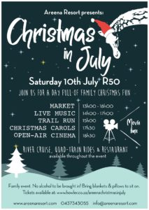 Christmas in July Event poster
